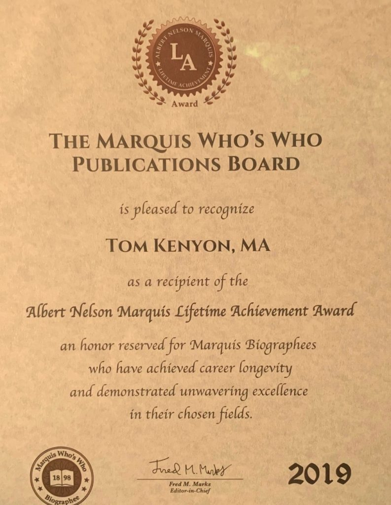 The Marquis Who's Who Lifetime Achievement Award